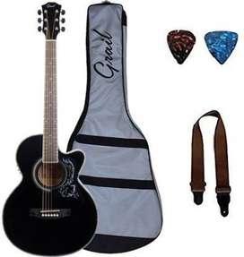 Grai6299l make Semi Acoustic Guitar