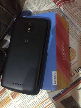 With box Moto c plus in excellent condition