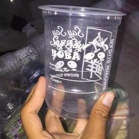 Sablon gelas cup plastik murah hasil memuaskan cepat