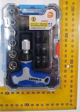 Kunci Ratchet Obeng Multi Fungsi Bolak Balik Wrench Screwdriver