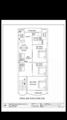 flat for sale at prime location in dhatkidih