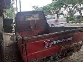 Super kijang pick up warna merah tahun 1993