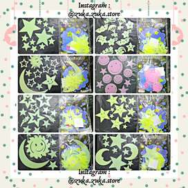 TERMURAH!!! STICKER DINDING GLOW IN THE DARK / WALLSTICKER LAMPU HIAS