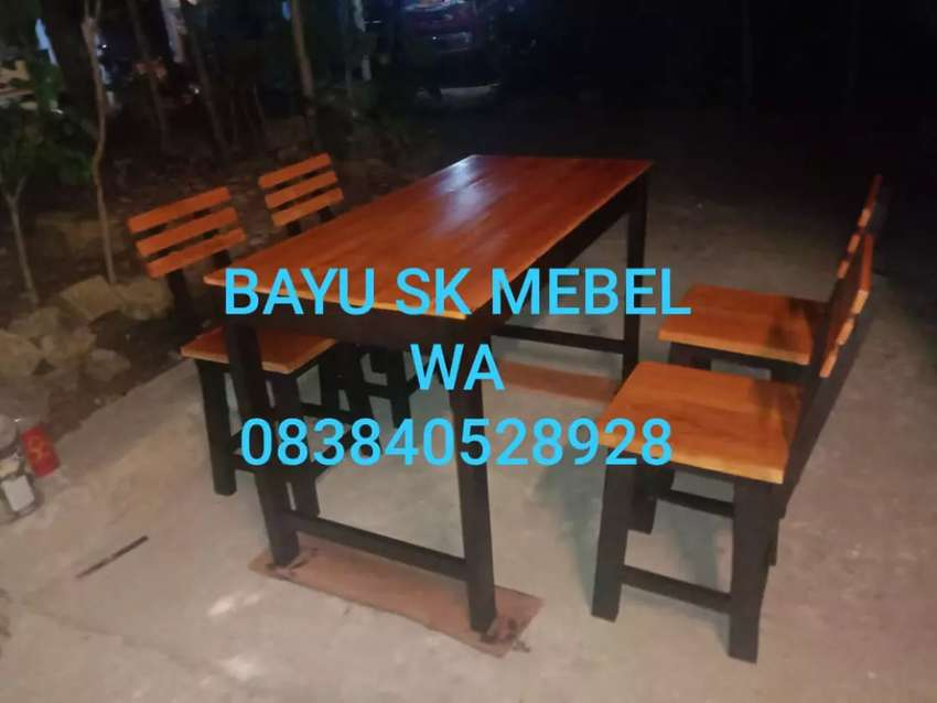 Set meja kursi cafe super promo