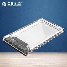 Casing Hard Disk External Enclosure USB 3.0 Orico Transparent Original