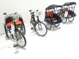 Miniatur Becak, Sepeda, Motor Cantik