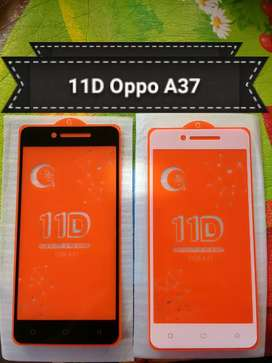 Full Layar Full Lem Tempered glass oppo A37