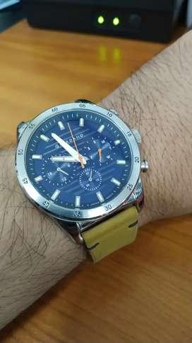 Jam Tangan Giordano Journey GD-1156-02 Men Blue Dial Tan Leather Strap