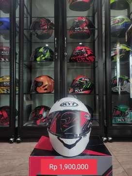 Jual helm baru KYT NFR white solid