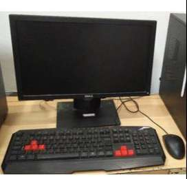 14 inch desk with keyboard mouse