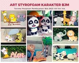 Jual karakter 3D Styrofoam