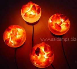 Natural Himalayan Salt Lamp in Bowl Shape (Fire Bowl Salt Lamp)