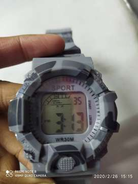 New stylish Sports watch , 7lights ,stop watch , day , year , date