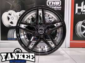 Cicil Velg Mobil DP 10% HSR Wheel TROPICAL Ring 18 Hole 5X100 BMF