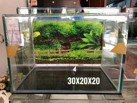 Di jual aquarium 30x20x20