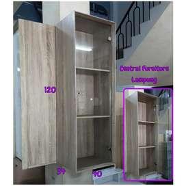 Lemari hias 1 pintu kaca minimalis gantung berkualitas