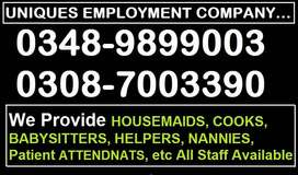 Get The UNIQUE=HOUSEMAIDS, Domestic COOKS, HELPERS, BABYSITTERS, etc