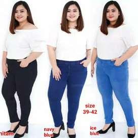 Celana Jeans Legging Big size 39 - 42