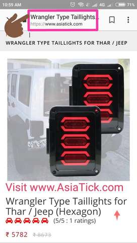 Wrangler type tail lights for Mahindra Thar, Jeep