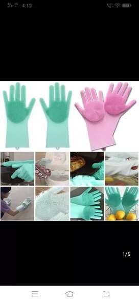 Silicone kitchen magic gloves