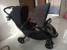 Stroller Twins Geoby conga 2 like new jarang dipake