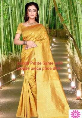 Banita Petite Saree with blouse piece price 800/-