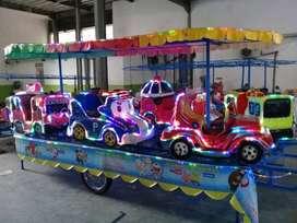 PROMO kereta panggung fiber campuran bisa aki listrik mini coaster iiw