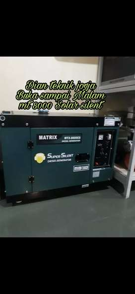 Genset generator super silent matrix mt 8000 //Dian teknik minggu buka