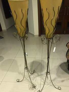 Wrought iron lamps (2 pieces)