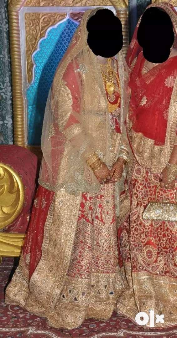Red Bridal lehenga 0