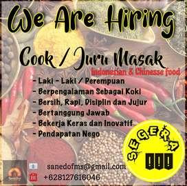 Koki /Juru Masak Indonesian dan Chinnesse Food