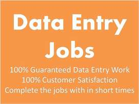 Part Time/ Full Time - Earn upto 45K - Simple Data Entry /Typing Jobs