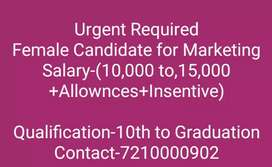 Need a Tall nd smart female candidate for Marketing