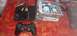 Ps2 slim mint condition last model +wireless charger+ ps3 to HDMI