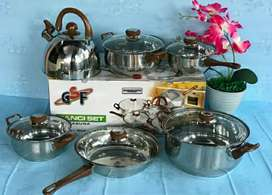 Panci Set 12pcs gsf Cookware stainless steel