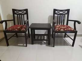 Pair of Chairs with Table