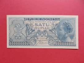 Uang Kertas Kuno Rp 1 Tahun 1956