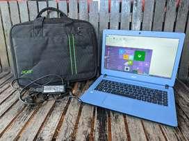 Laptop Acer Windows 10 baterai 7 jam an