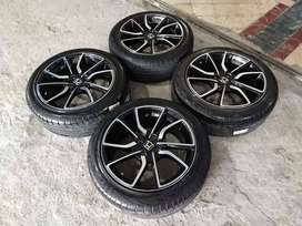 Velg Second Racing Tipe R Ring 16x7 hole 4x100 + Ban 195 50 R16