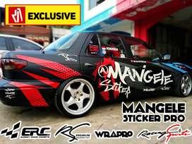 Stiker Mobil Keren, Desain Sendiri Mangele Premium Bandung