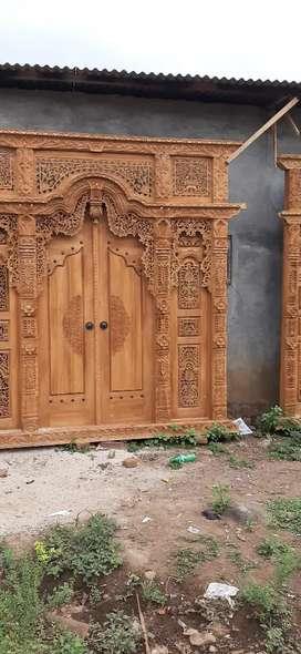 free ongkir cod set pintu gebyok berbagai ukuran lengkap kerisna