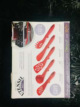 JML Non-scratch silicon 5 pice utensils