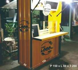 kredit/cash BOOTH USAHA CONTAINER design modern cuma DP 650rb lgsg krm