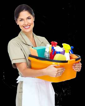 We required Active Female House Maid For Small Family F10