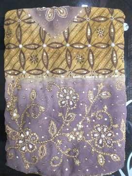 Heavy work saree(georgette saree)
