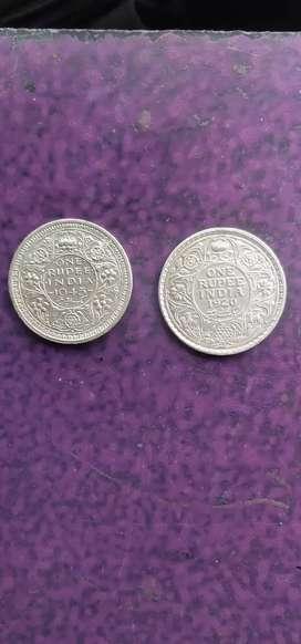 Rear silver coin collection