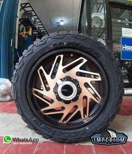 Velg HSR R20 ini Cocok untuk Mobil Fortuner Triton Pajero Pelek Ring20