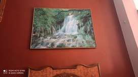 Water fall wall frame picture 4 / 3.8 feet