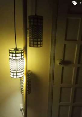 Floor lamp and rug