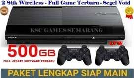 HOT PROMO 2021    New Ps3 Super Slim 500 GB Segel Void Full Game Siap